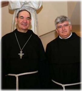Mons. Gianfranco Gardin - Arcivescovo di Treviso (Ministro Generale dal 1995 al 2001) e P.Marco Tasca - Ministro Generale dell'Ordine dei Frati Minori Conventuali.