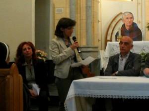 Pina Mugione durante il primo incontro culturale dedicato al Beato Ludovico da Casoria