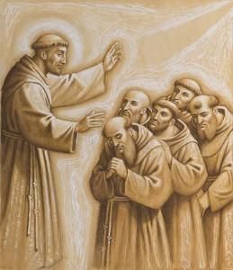 San Francesco benedice la missione in Marocco dei Protomartiri francescani