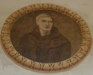Affresco del Beato Ludovico da Casoria (inizio 900') presso il Chiostro Conventuale della Basilica di Sant'Antonio di Afragola