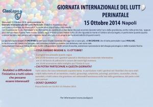 Locandina Giornata Internazionale del Lutto Perinatale