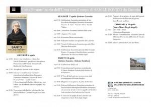 locandina visita di San Ludovico ad Assisi